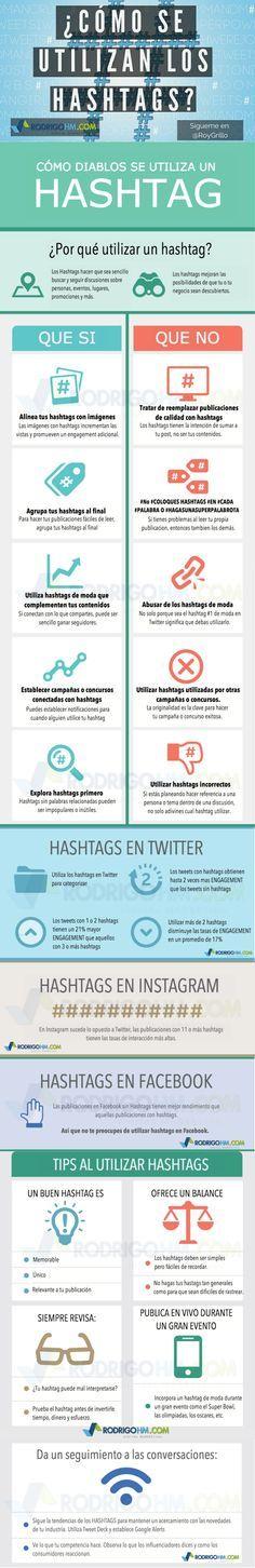 Redes Sociales: cómo usar los hashtags #infografia #infographic #socialmedia