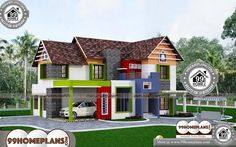 House Models Pictures Online Small 2 Storey Homes Plans Ideas Best Modern House Design, Simple House Design, Cool House Designs, Home Design Images, House Design Pictures, Low Budget House, 5 Bedroom House Plans, Indian Home Design, Style Simple