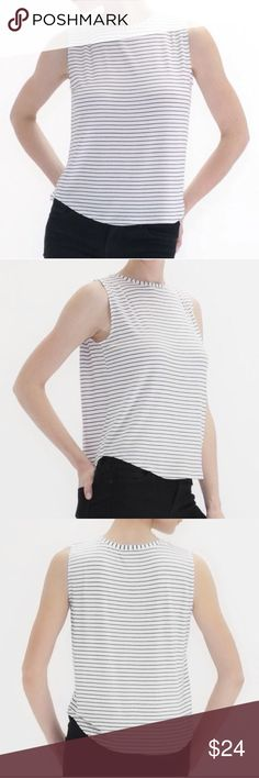 NWT Atid LOVER Black/White Stripped Tank NWT Atid LOVER Tank In S  Get the relaxed fit with this black & white stripped jersey tank. Must have essential piece to pair with everything! Dress it up or down.   ✨ Made in the USA  👍🏼 SMOKE / PET FREE HOME Atid Clothing Tops Tank Tops