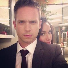 Patrick and Meghan, why so serious?! #Suits                                                                                                                                                     More