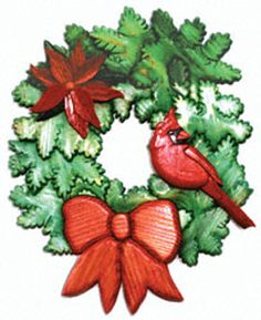 ALL - Holiday Wreath Intarsia Project Pattern Intarsia Woodworking, Woodworking Patterns, Woodworking Projects, Scroll Saw Patterns, Wood Patterns, Christmas Patterns, Christmas Ornaments, Christmas Presents, Xmas