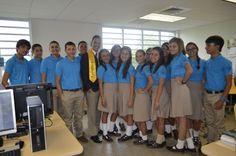 Escuela Superior Ramon Power y Giralt.  Presidente Estatal visita y orienta a estudiantes.