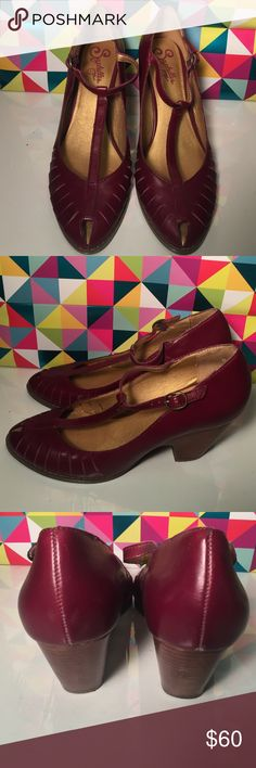 Selling this Seychelles Plum Leather Heels in my Poshmark closet! My username…