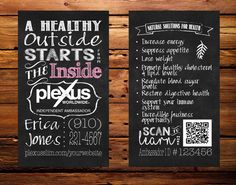 Plexus #business card #(chalkboard style with QR #code),  View more on the LINK: http://www.zeppy.io/product/gb/3/237393352/