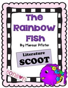 """This is based on the book The Rainbow Fish by Marcus Pfister. There are 20 question cards, an answer sheet and an answer key. Place the cards around the room on tables, or wherever you have room. Students """"scoot"""" around from card to card. Can be used for an informal comprehension assessment of the book or just for fun."""