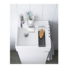 IKEA - LILLÅNGEN, Lavabo, 40x41x13 cm, , Garantie 10 ans gratuite. Détails des conditions disponibles en magasin ou sur internet.La profondeur du rebord permet de l'utiliser comme tablette où poser un porte-savon et un gobelet à brosses à dents.