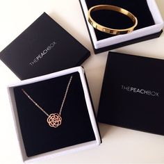 Feeling Happy!! What a lovely shot of our goodies from @livmennie ! Thanks! @thepeachbox #thepeachbox #fashionjewellery