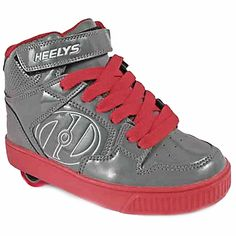 Heely's Fly Roller Shoe (Grey/Red)