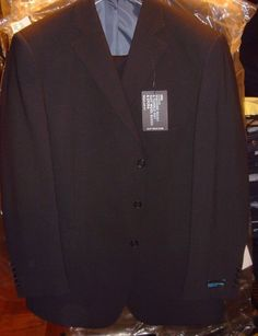 Marks & Spencer Navy Blue Machine Washable Suit Size 46 M 38/33 Pants  New Tags #MarksSpencer #ThreeButton
