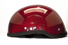 Red Chrome Half Helmet
