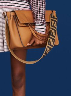 The good thing about fashion is that trends don't necessarily stay dead in the grave forever. As time passes by, it can actually create a bigger impact when done properly. Fendi's Resort 2019 bags sees… View Full Post Coach Handbags, Purses And Handbags, Louis Vuitton Handbags, Fashion Handbags, Fashion Bags, Fashion Outfits, Tote Bags, Sacs Design, Womens Golf Shoes