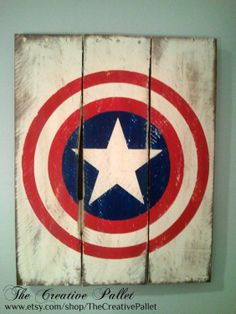 Large Vintage Superhero Sign Wood Pallet Sign