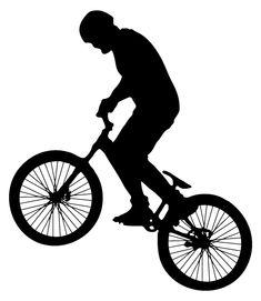 Bike Silhouette, Silhouette Vector, Bmx, Birthdays, Colour, Party, Men, Men's, Toddler Girls