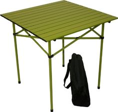 Table In A Bag Ta2727g Tall Aluminum Portable Table With Carrying Bag, Green, 2015 Amazon Top Rated Freestanding Grills #Lawn&Patio