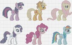 PDF Pattern  My Little Pony Main Cast by StitchadeeDesigns on Etsy, $7.99