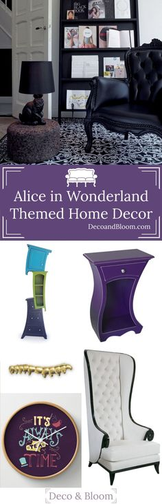 Alice in Wonderland Home Decor - From the Home Decor Discovery Community at www.DecoandBloom.com