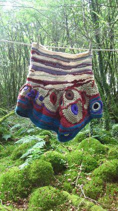 freeform crochet skirt