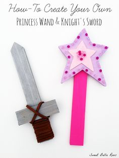 How to create your own princess wand, knight's sword, pirate treasure map and pixie dust. Tutorial and free printable! Wand How To Make a Princess Wand, Knight's Sword, Pirate Treasure Map & Pixie Dust Princess Wands, Disney Princess Party, Princess Theme, Princess Birthday, Girl Birthday, Princess Party Games, Birthday Crowns, Princess Sophia, Cinderella Party