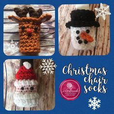 Got to make these ❤️❤️❤️ Instant PDF Downloads: Christmas Chair Sock Bundle Crochet Socks, Crochet Patterns Amigurumi, Amigurumi Doll, Hand Crochet, Christmas Chair, Christmas Gifts, Xmas, Crochet Crafts, Crochet Ideas
