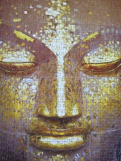 "jigsaw Buddha... ""What we think, we become."""