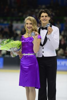 Paul Poirier and Piper Gilles Photos Photos - Piper Gilles and Paul Poirier of Canada win Silver during their Ice Dance Free Dance during day two of Trophee Eric Bompard ISU Grand Prix of Figure Skating at the Meriadeck Ice Rink on November 22, 2014 in Bordeaux, France. - Trophee Eric Bompard ISU Grand Prix of Figure Skating - Day Two