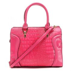 Michael Kors Tote Rose Crocodile embossed