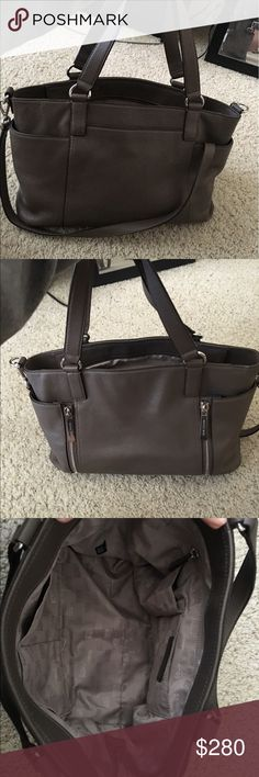 Michael Kors Bag Great and versatile Bag. Very good condition. Has a ton of pockets. Good for work, casual, or travel. Pretty large in size and has zip closure.  Has crossbody strap and regular handles. Beautiful and unique color. Offer and bundle ✨ Michael Kors Bags Totes