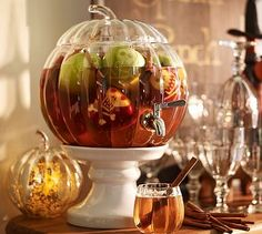 Pumpkin Drink Dispenser #potterybarn