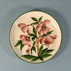Christmas Rose Wemyss Ware Plate by Griselda Hill Pottery Ltd