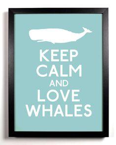 love whales print