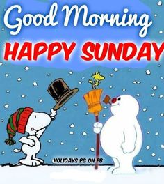 Frosty and Snoopy Good Morning Winter, Good Morning Snoopy, Good Morning Happy Sunday, Peanuts Christmas, Charlie Brown Christmas, Charlie Brown And Snoopy, Christmas Fun, Xmas, Snoopy Love