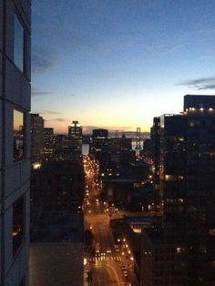 San Francisco, CA, 2013 - View from W Hotel San Francisco to Oakland Bay Bridge