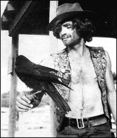 Charles Manson with desert raven........I MIGHT AD THIS IS ONE SICK MAN
