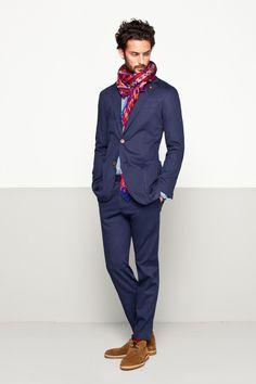 Purificación-García-PV-2013-scarf-color-ful-blue-suit-lookbook.jpg (700×1050)