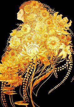 Aya Kato - illustrator  Aya Kato's Rapunzel is an amazing piece of work.