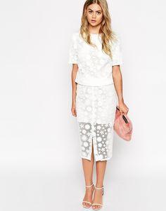 ASOS COLLECTION ASOS co-ord Pencil Skirt With Floral Applique