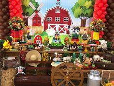 Farm Animal Party, Farm Animal Birthday, Cowboy Birthday, Mickey Birthday, Farm Birthday, Cowboy Theme Party, Farm Themed Party, Farm Party, Baby Boy Birthday Themes