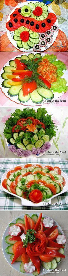 Овощная нарезка на праздничный стол: