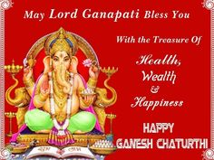 May Lord Ganesh remove all your obstacles, make your way smoother and shower you with bounties. #happyganeshchaturthi
