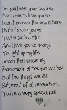 End of the Year Poem: Love my students. Each and every one. by jannie