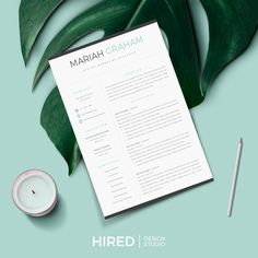 Professional & Modern Resume template for Word & Pages Resume Layout, Resume Cv, Resume Writing, Resume Design, Cv Design, Cover Letter Format, Cover Letter Design, Cover Letter For Resume, Letter Designs