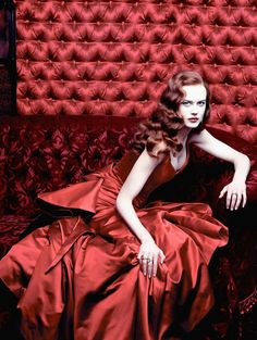 Nicole Kidman photographed for Moulin Rouge, 2001