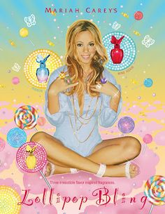 Lollipop Bling perfume is by Mariah Carey. There are many different flavors of lollipop bling like mine again, ribbon, and honey. Mariah Carey Honey, Mariah Carey Pictures, Celebrity Branding, Celebrity Perfume, Perfume Ad, Still Love Her, Perfume Collection, New Fragrances, Product Launch