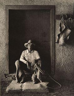 Cowboy: Bert Ancell, Bell Ranch, New Mexico, 1983 by Kurt Markus Real Cowboys, Cowboys And Indians, Hot Cowboys, Cowboy Horse, Cowboy And Cowgirl, Cowboy Baby, Cowboy Ranch, Horse Ranch, Cowboy Photography