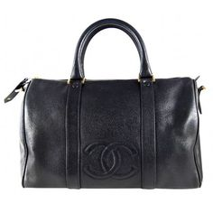 Chanel Black Caviar Leather Large Speedy Bag