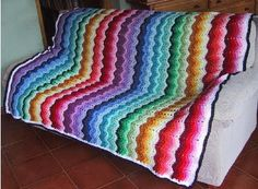 CHEVRONS are another design made popular in the 70s. When crocheted in bright colors it is a real attention getter. Done with one color or with slightly contrasting colors, it looks very elegant. Cheverons can be sharp and pointy or rounded.