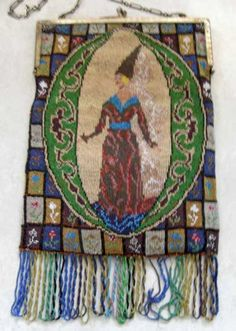 Beaded Figural Maiden - collection of Kathy Gunderson
