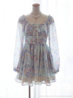 LIZ LISA x My Melody 3rd Collab RARE Floral OP Dress Hime Lolita Kawaii Japan #LIZLISA #Peplum #Shibuya109Lolitafashion