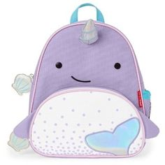 Skip Hop Zoo Lunchie Insulated Lunch Bag Narwhal - Sized just right for little kids, these soft bags have a roomy main compartment that holds sandwiche Animal Backpacks, Colorful Backpacks, Kids Backpacks, Preschool Backpack, Toddler Backpack, Skip Hop Unicornio, Mochila Skip Hop, Zoo Activities, Skip Hop Zoo