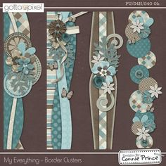 My Everything - Border Clusters :: Gotta Pixel Digital Scrapbook Store